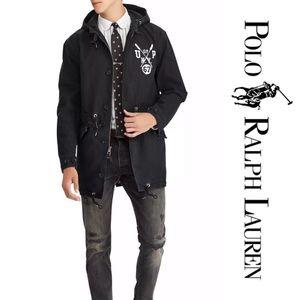 Polo Ralph Lauren Black Parka Jacket Large